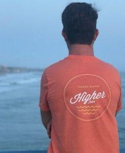 Higher Tides Orange Tee Back