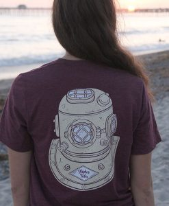 Toni in the Higher Tides Helmet Tee Back